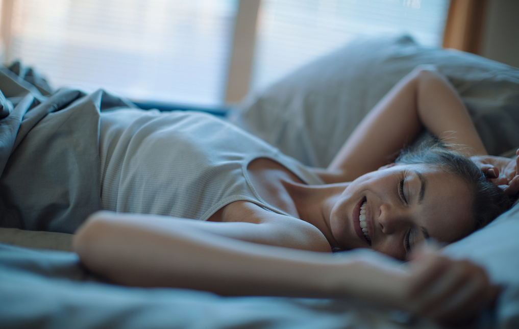 Photo of a woman sleeping