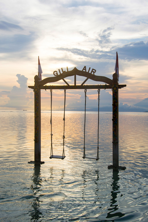 sunset on gili air
