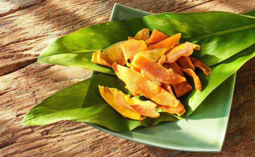 DIY gedroogde mango fem fem
