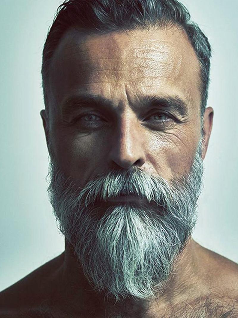 Nieuw 50 tinten hete mannen met grijs haar | FEM FEM HJ-77
