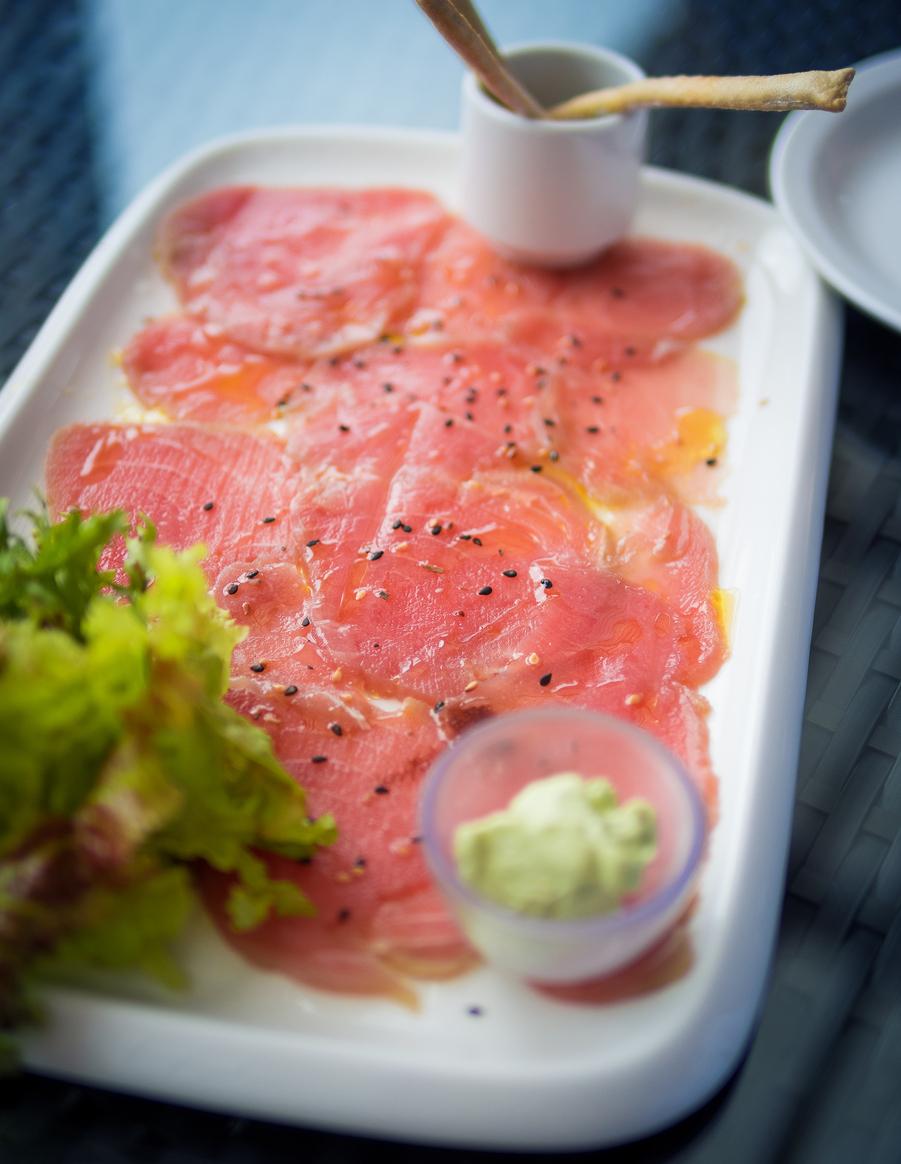 salmon carpaccio appetizer