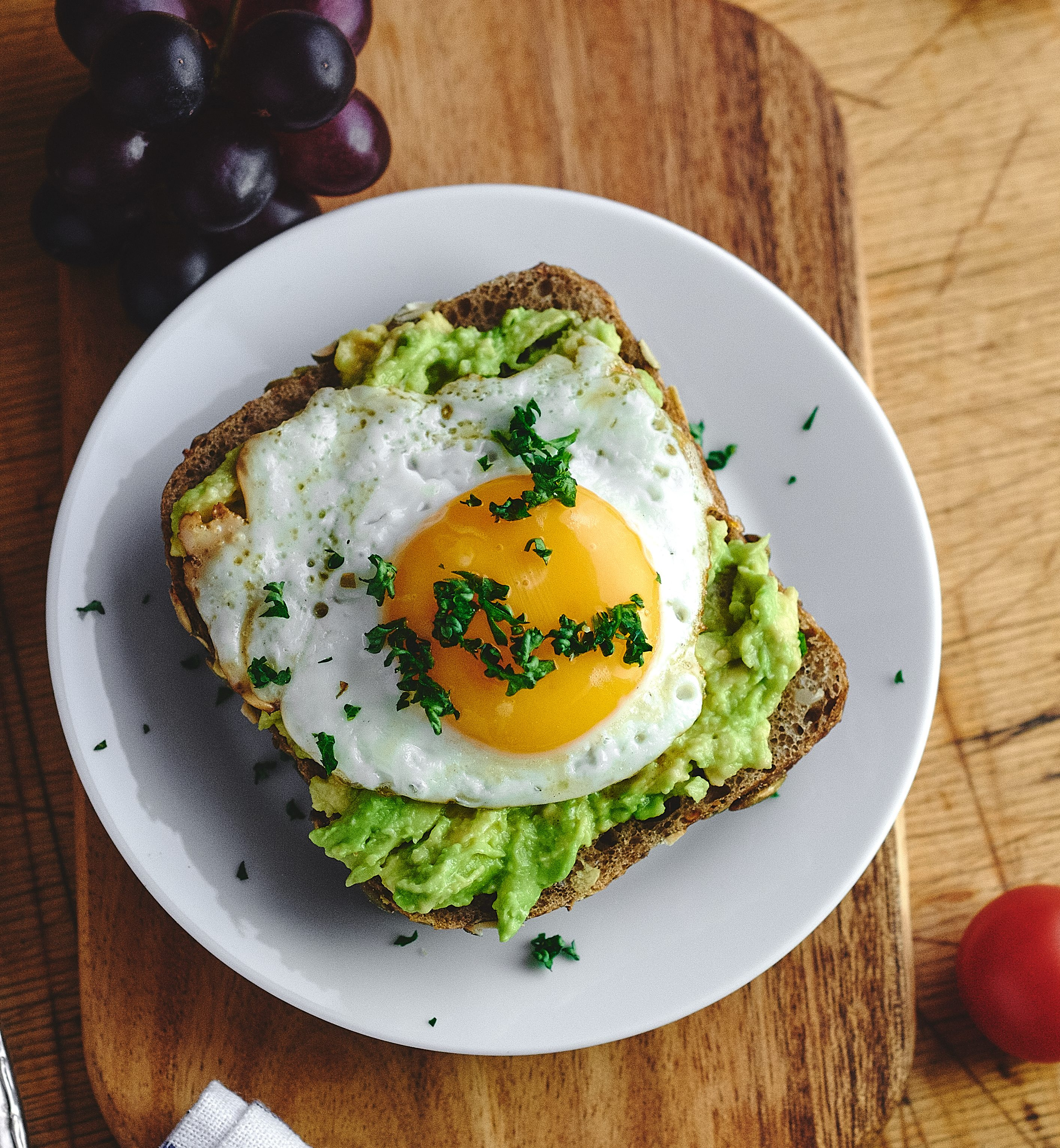 Fried egg with Avocado on bread