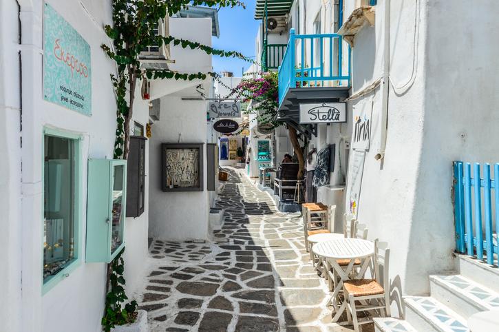 Beautiful Greek Island of Paros - Town of Naoussa