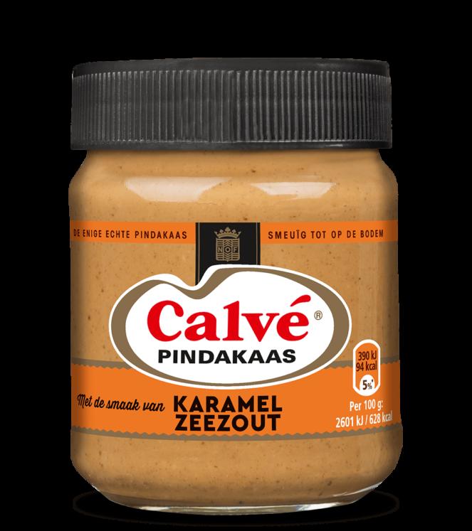Calve Pindakaas karamel zeezout FEM FEM