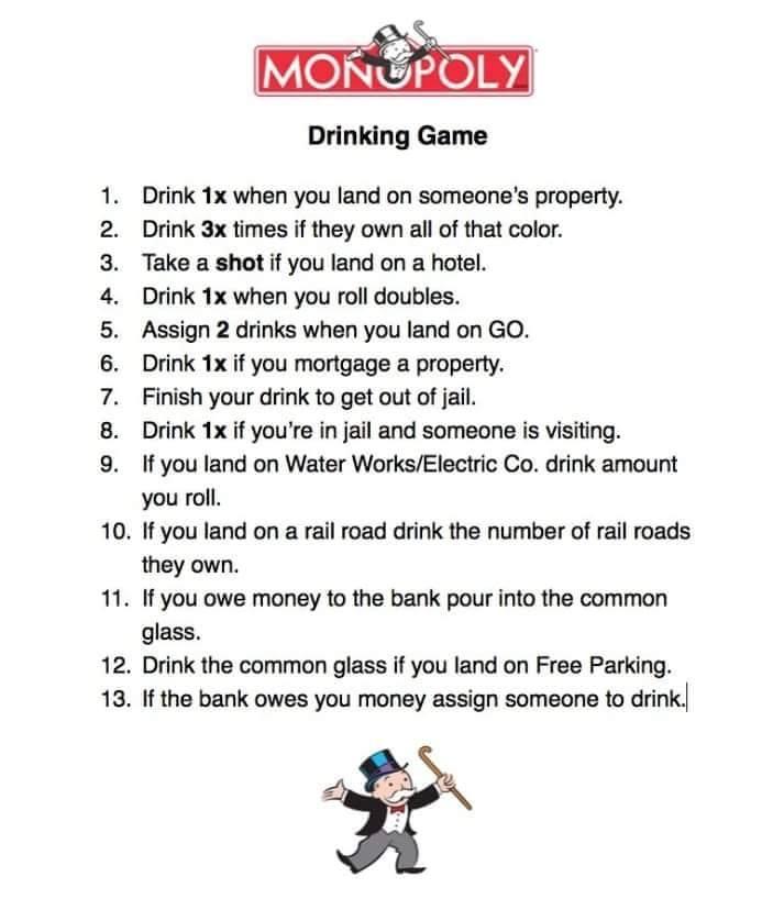 Monopoly drank spel