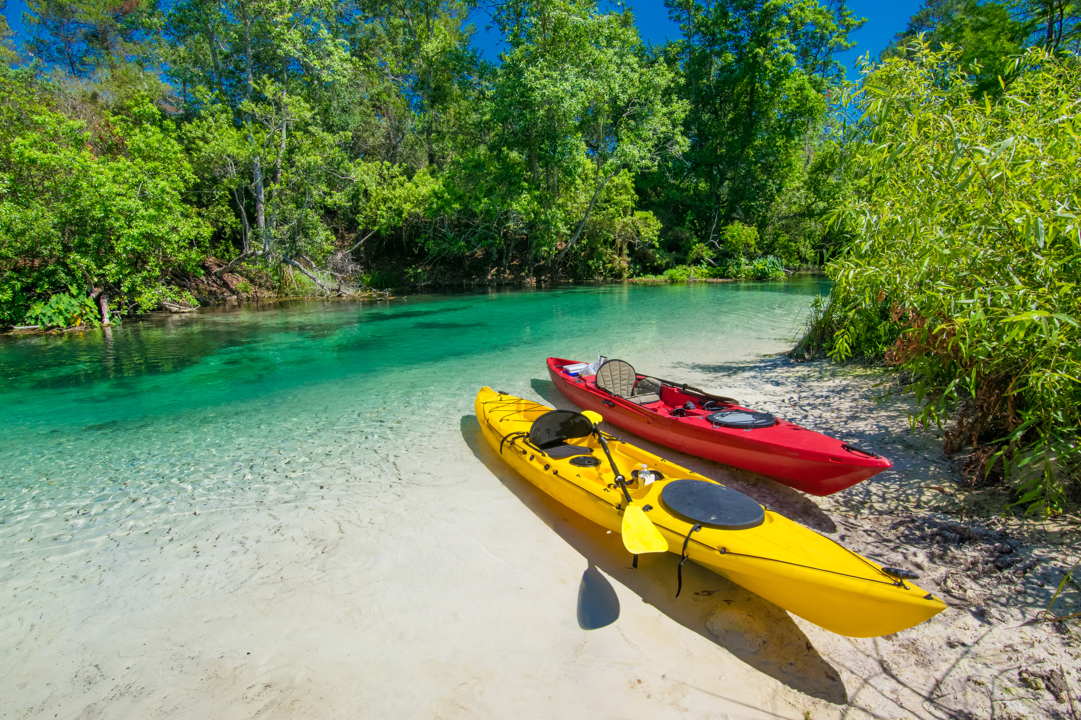 Two Kayaks on Sandy River Bank