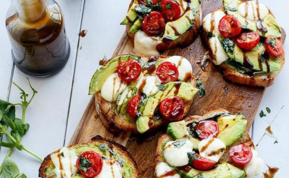 caprese avocado toast FEM FEM