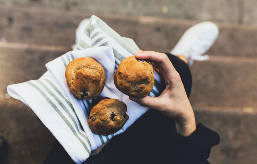 bananen blueberry muffins