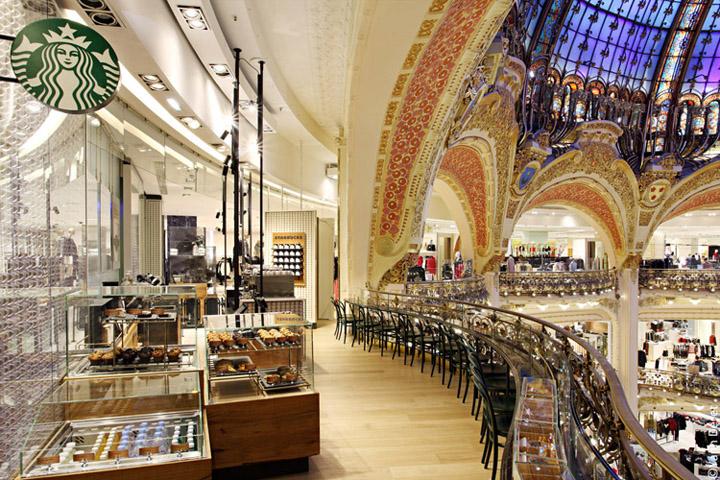 Starbucks-store-at-Galeries-Lafayette-La-coupole-Paris-fem-fem