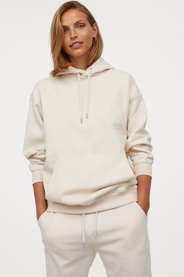 capuchonsweater van katoenmix