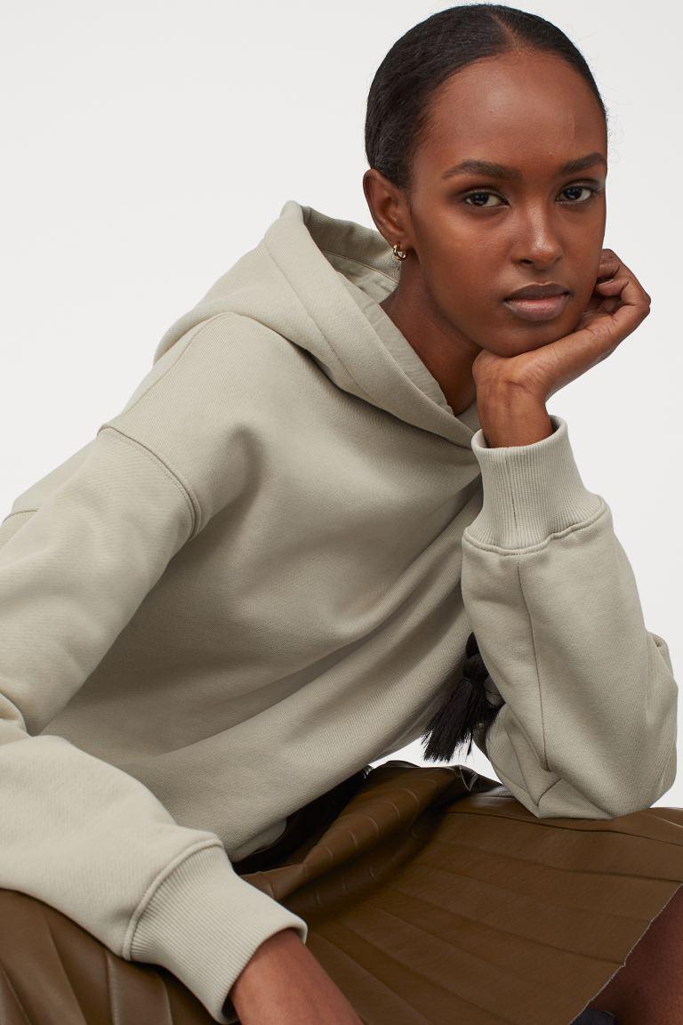 katoenen capuchonsweater