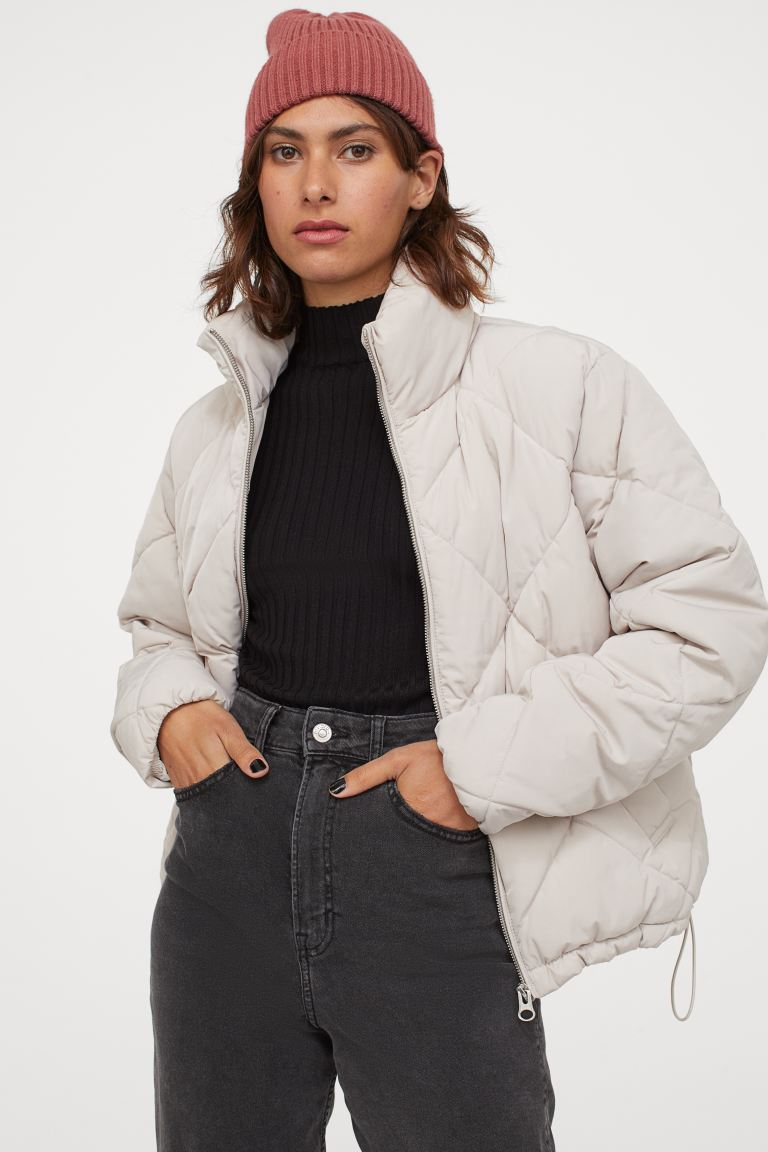 boxy pufferjacket creme