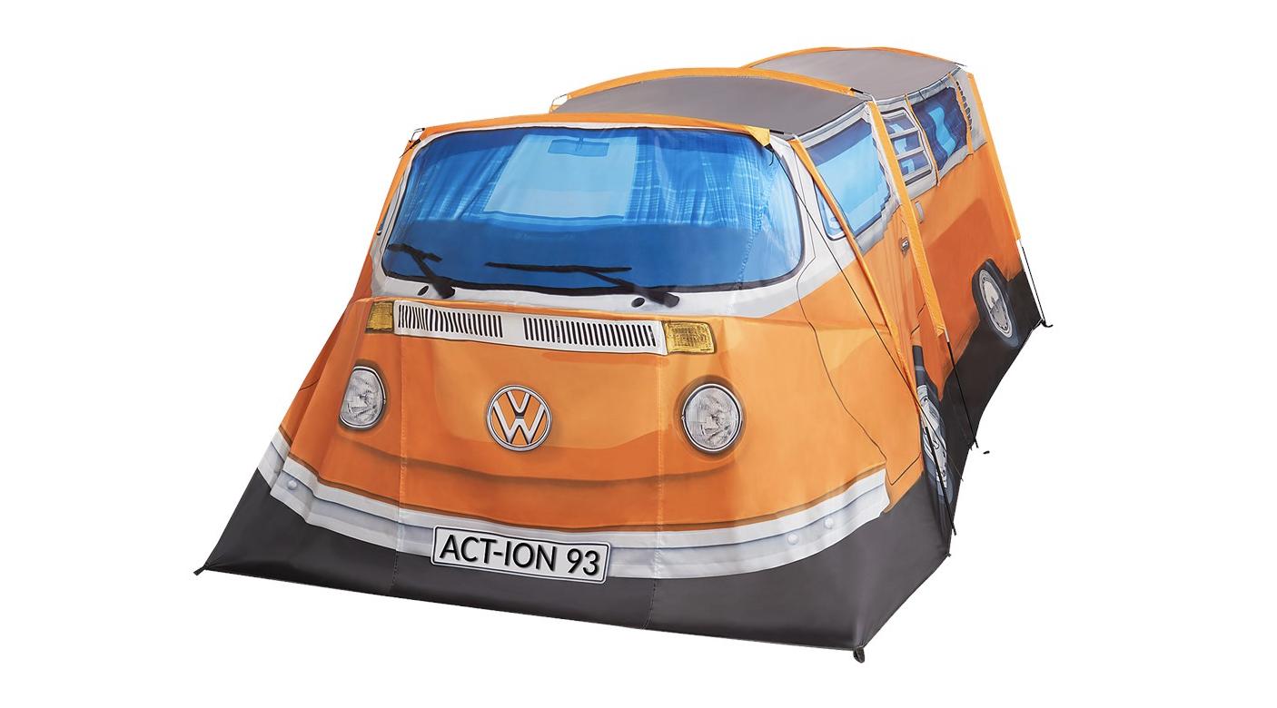 action volkswagenbusje