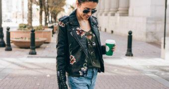 4 verschillende looks met een leren jas