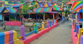 Hier wil je naartoe: een regenboog dorp in Indonesië