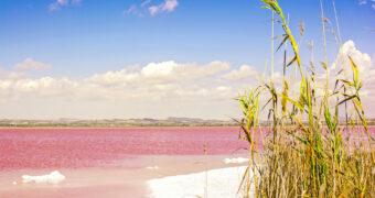 Er bestaat een roze meer en je vindt 'm gewoon in Europa!