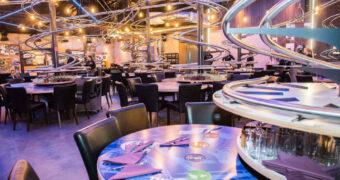 In dit restaurant wordt jouw maaltijd via een achtbaan gebracht