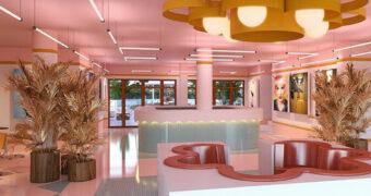 Dit volledig roze hotel in Ibiza is jouw absolute droomplek