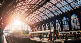 De eerste treinrit van Amsterdam naar Londen is een feit