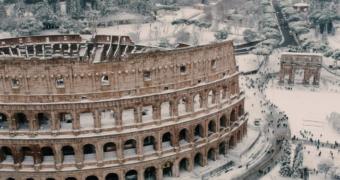 Deze drone legt prachtige beelden van een besneeuwd Rome vast