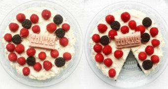 Recept van de dag: Cheesecake met Oreo, Tony's Chocolonely en frambozen