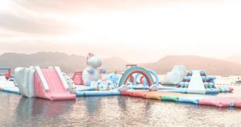 Hier wil jij naartoe: unicorn-eiland met roze ligbedden