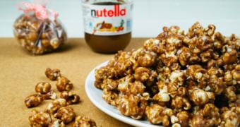 Ultieme snack: Nutella popcorn met pindakaas en zeezout