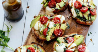 Lunch tip: Caprese Avocado Toast