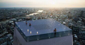 Hier wil je in dobberen: de Infinity pool in Londen